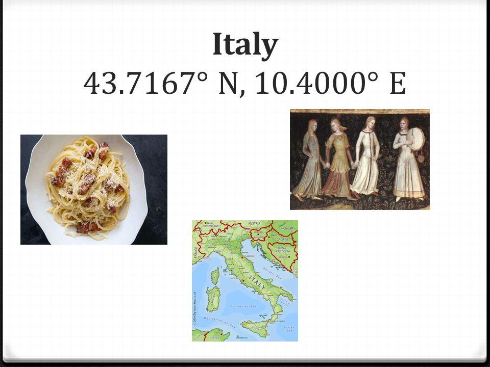Italy 43.7167° N, 10.4000° E