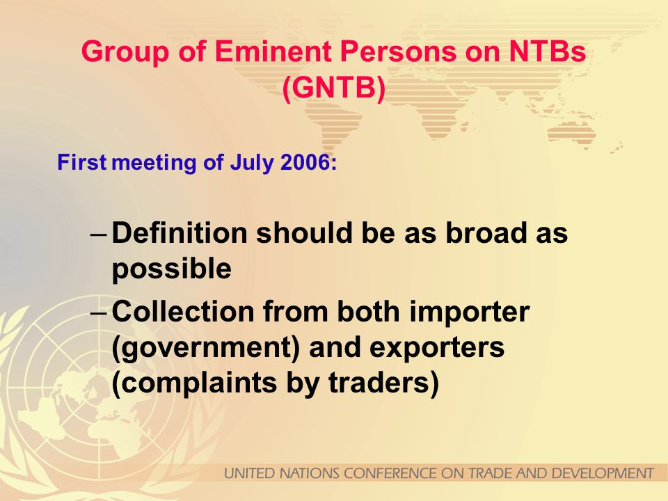 Definition of NTMs MAST agrees that NTBs are a subset of NTMs recognizing that the apriori distinction of NTBs from NTMs should be avoided.
