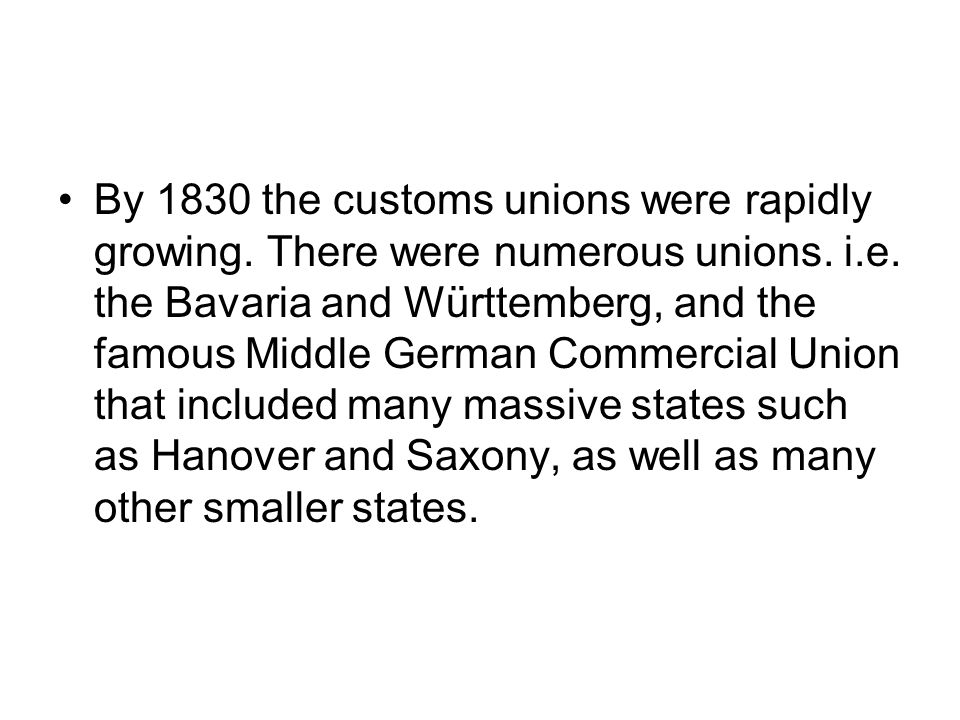 Some of Prussia's neighbours were impressed by this new system and the new economic success that they agreed to join a customs union with Prussia, and