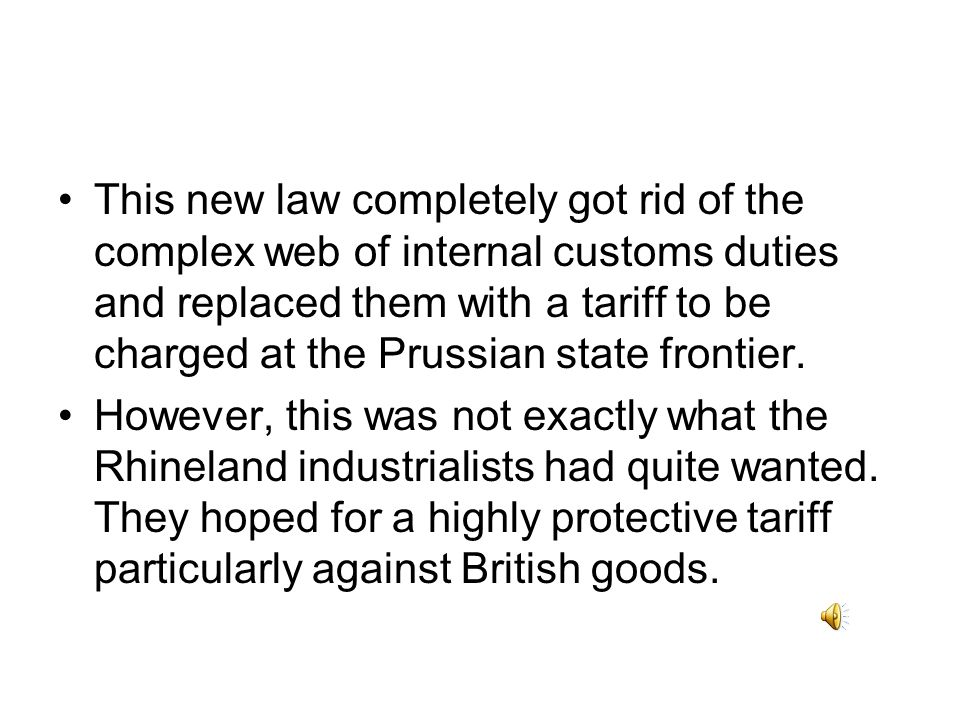 So what did they do? In 1818 many Rhineland manufactures complained to the King of Prussia about this gigantic burden on industry. They also complaine