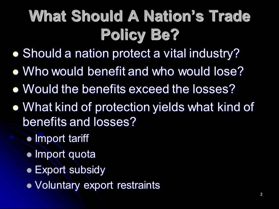 1 Ch. 8: The Instruments of Trade Policy