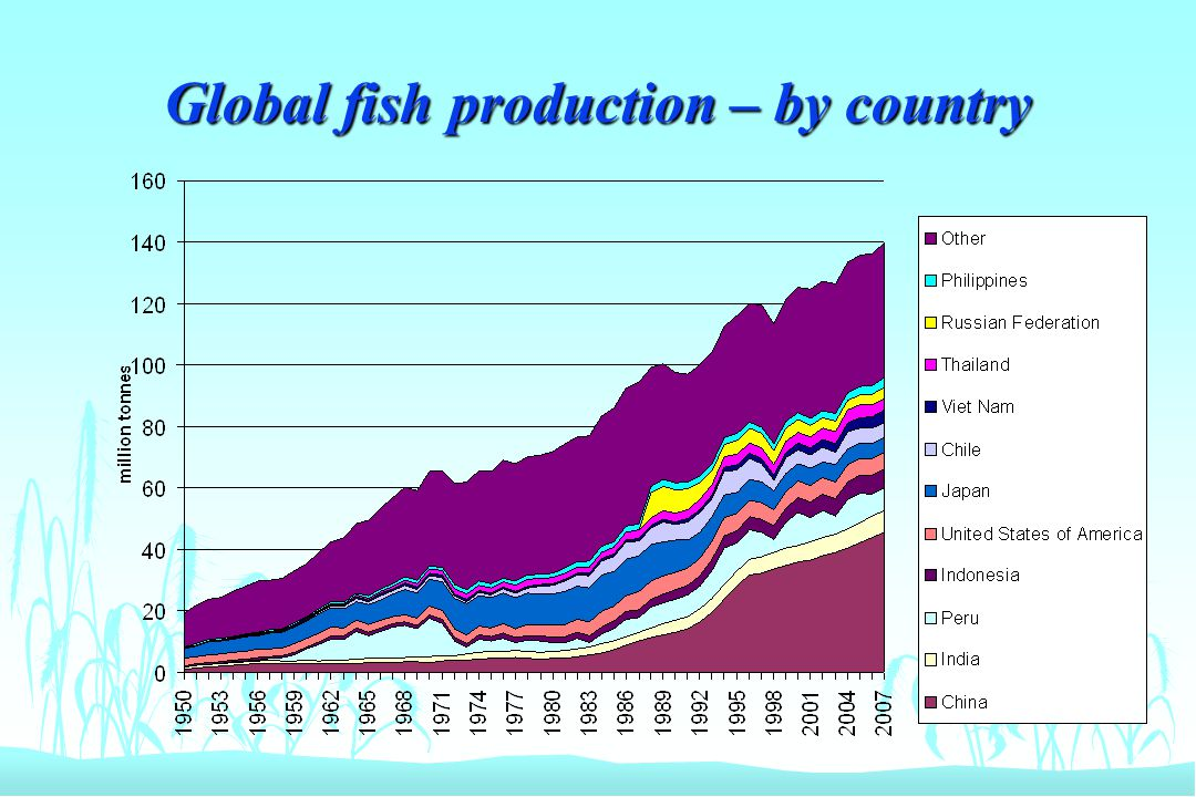 Global fish production – by country