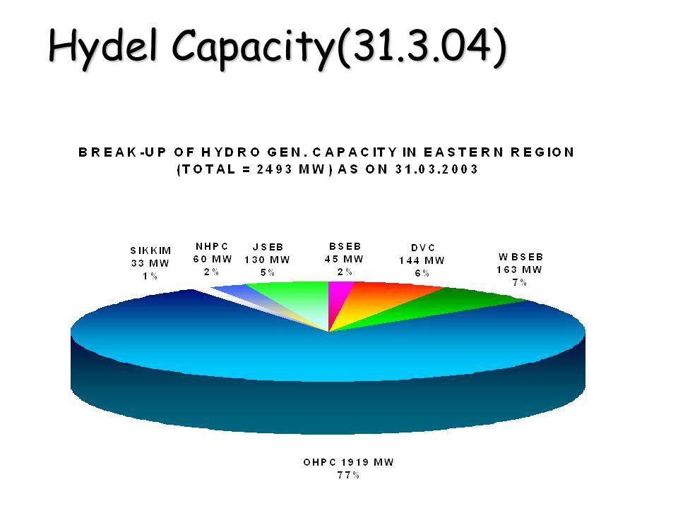 Hydel Capacity(31.3.04)