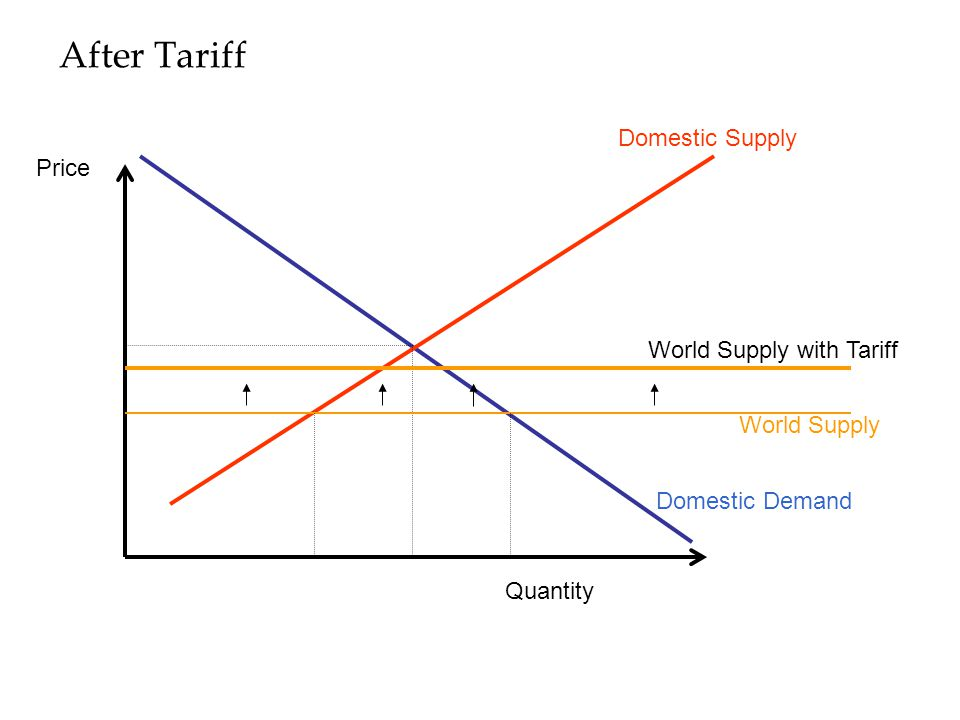 After Tariff Domestic Supply Domestic Demand Quantity Price World Supply World Supply with Tariff
