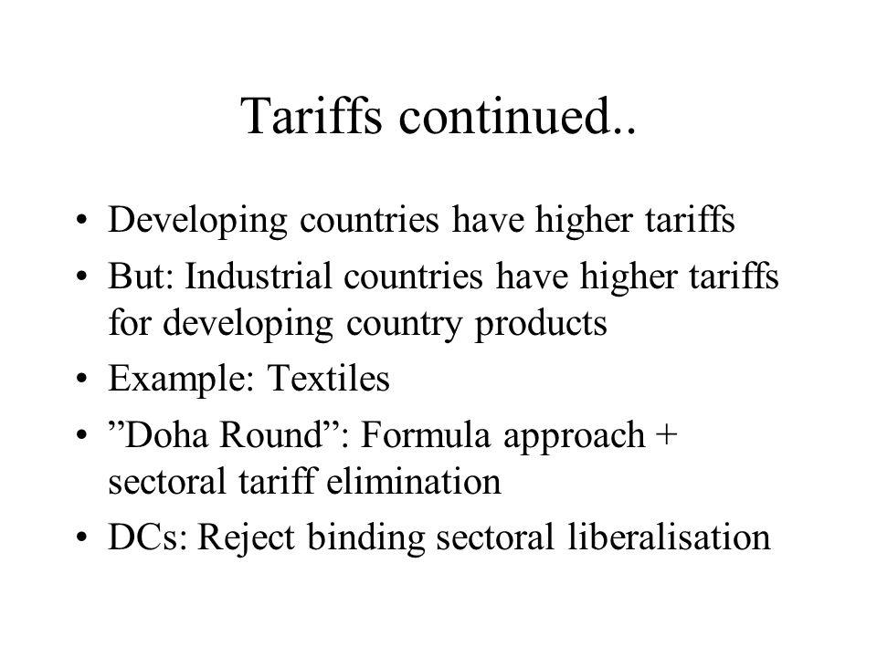 Tariffs continued..