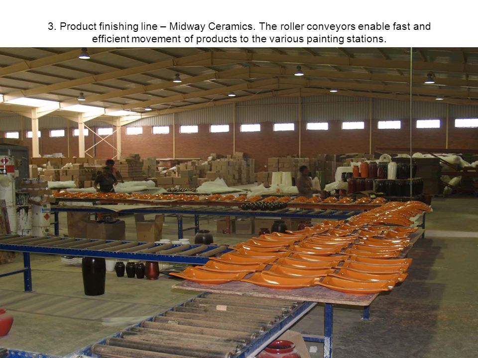 3. Product finishing line – Midway Ceramics.
