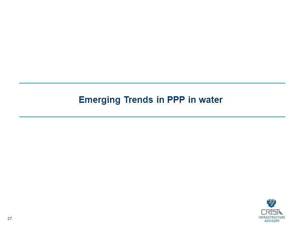 27. Emerging Trends in PPP in water