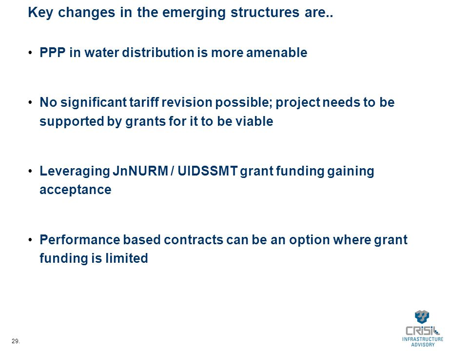 29. Key changes in the emerging structures are..