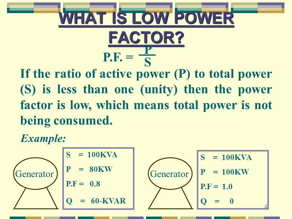 15 NATURAL POWER FACTORS o MERCURY VAPOUR LAMPO.4 TO 0.6 o INDUSTRIAL INDUCTION MOTOR: ◘ NO LOADO.18 ◘ 25% FULL LOAD0.56 ◘ 75% FULL LOAD0.81 ◘ 100% FULL LOAD0.85 ◘ 125% FULL LOAD0.86 o COLD STORAGEO.76 TO 0.80 o CINEMAS0.78 TO 0.80 o METAL PRESSINGO.57 TO 0.72