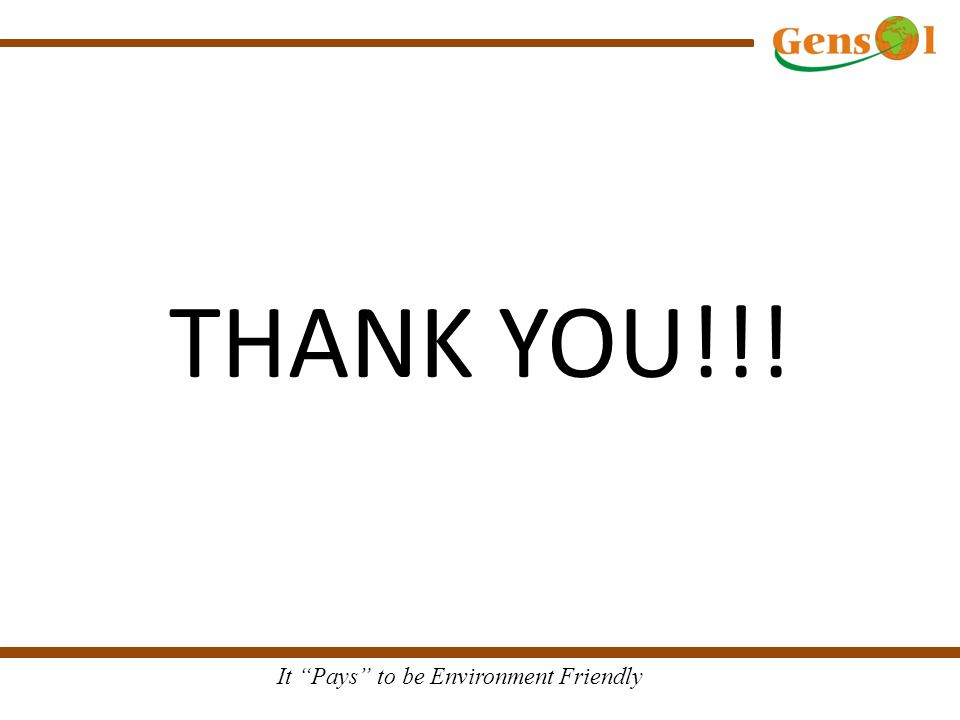 "It ""Pays"" to be Environment Friendly THANK YOU!!!"
