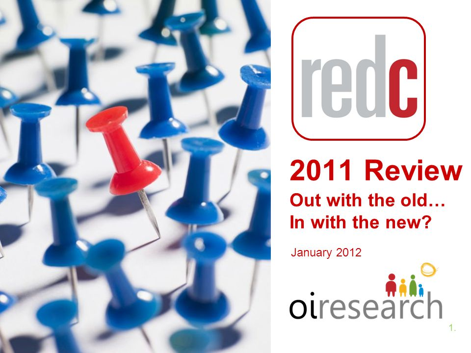 1.1. January 2012 2011 Review Out with the old… In with the new