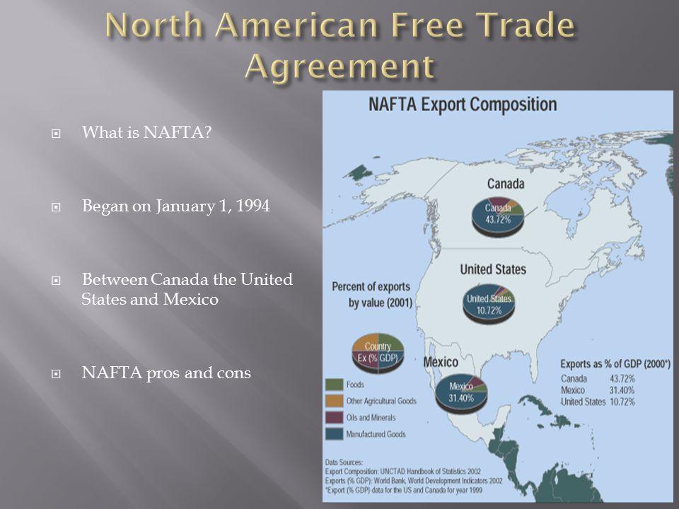  What is NAFTA.