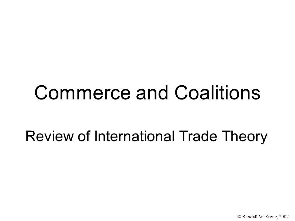 © Randall W.Stone, 2002 Comparative Advantage 1. Comparative advantage –› trade 2.
