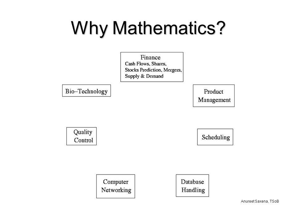 Anureet Saxena, TSoB Why Mathematics
