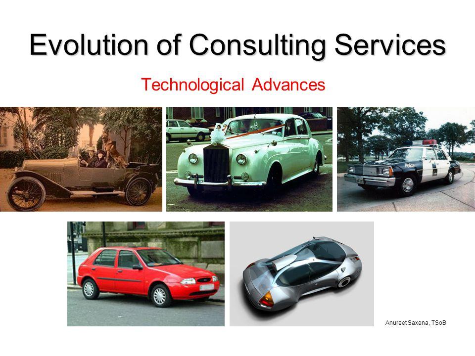 Anureet Saxena, TSoB Evolution of Consulting Services Technological Advances