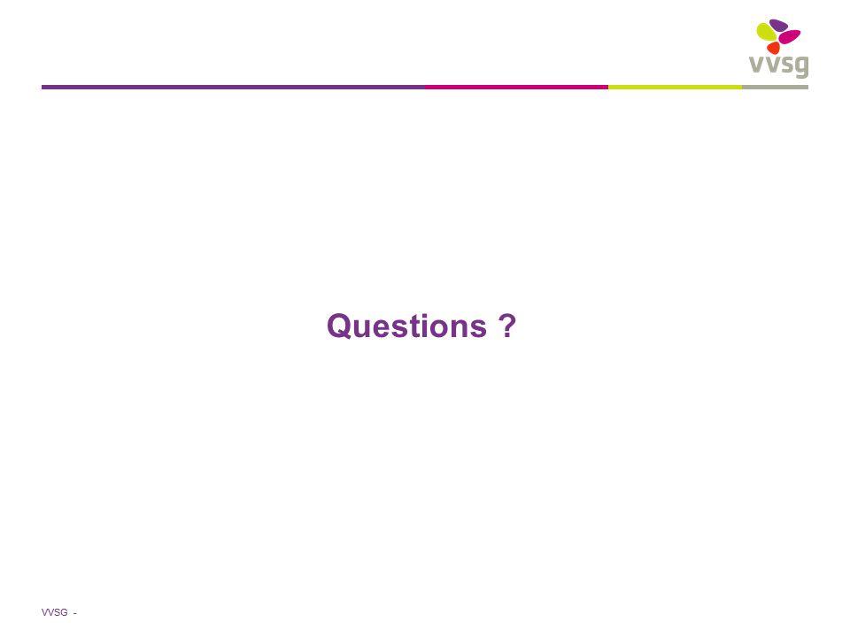 VVSG - Questions ?