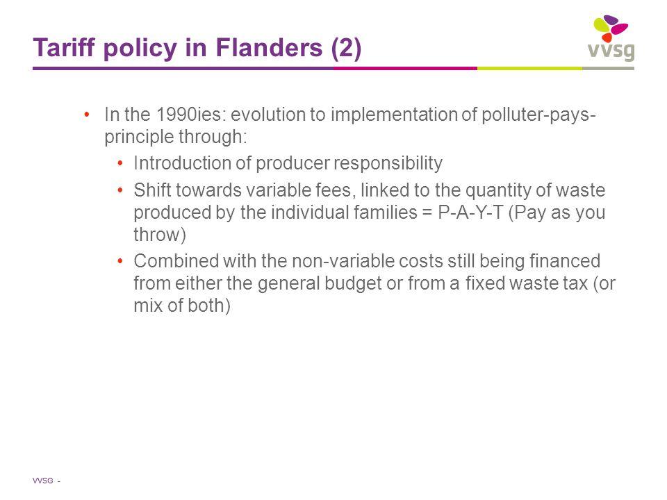 VVSG - Tariff policy in Flanders (3)