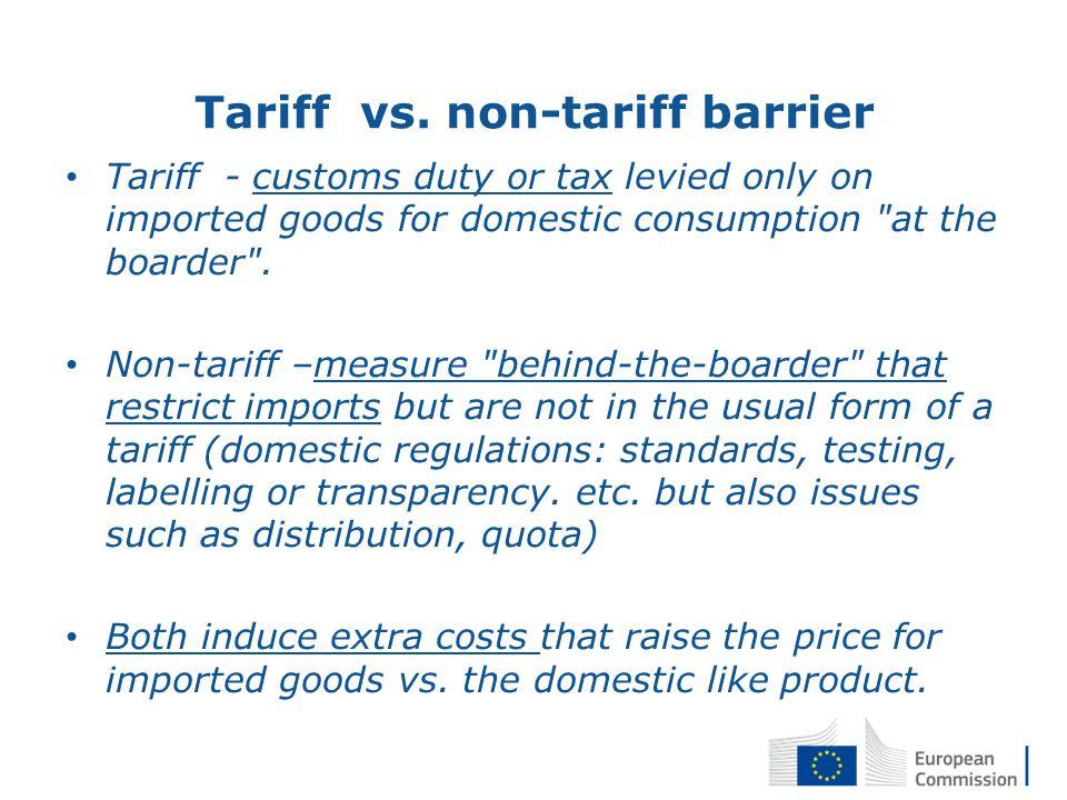 Tariff vs.