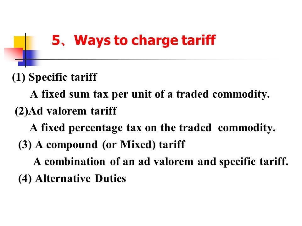 4. Functions of Tariff a. Fiscal revenue b.