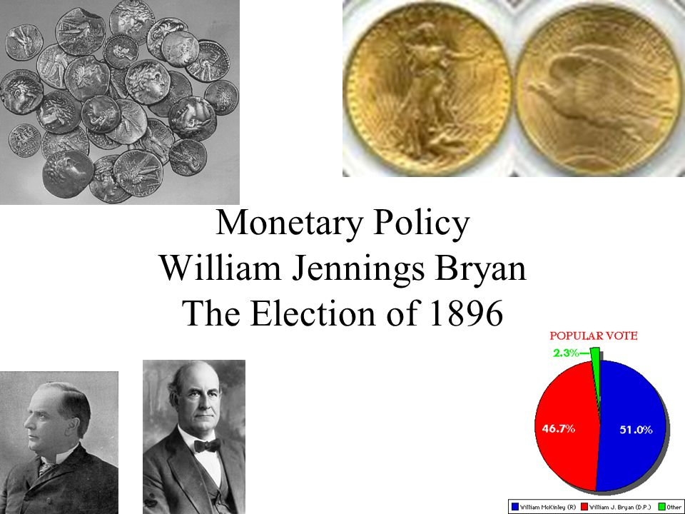 Monetary Policy William Jennings Bryan The Election of 1896