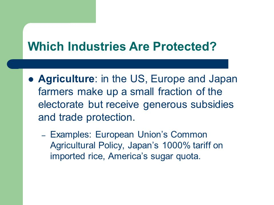 Which Industries Are Protected.