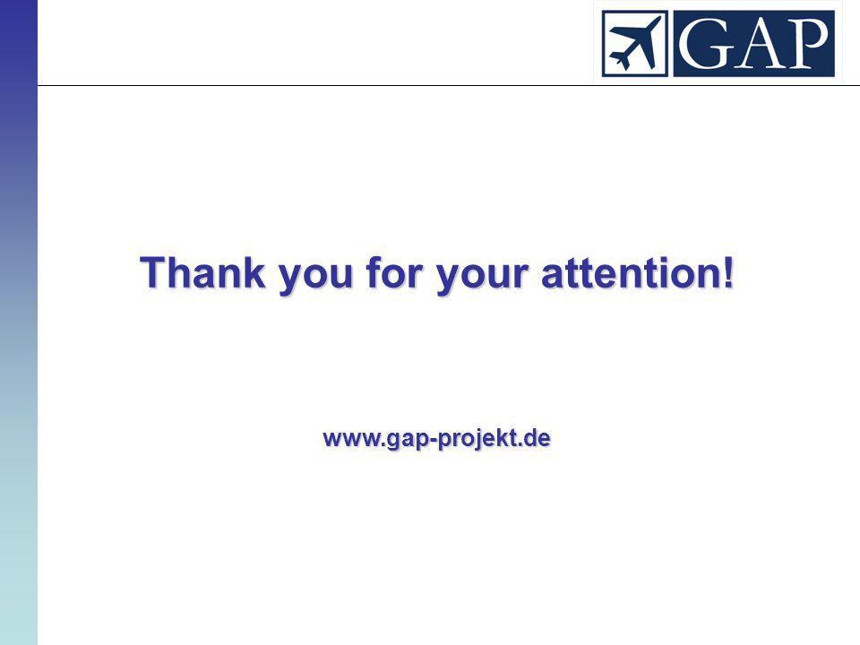 Thank you for your attention! www.gap-projekt.de