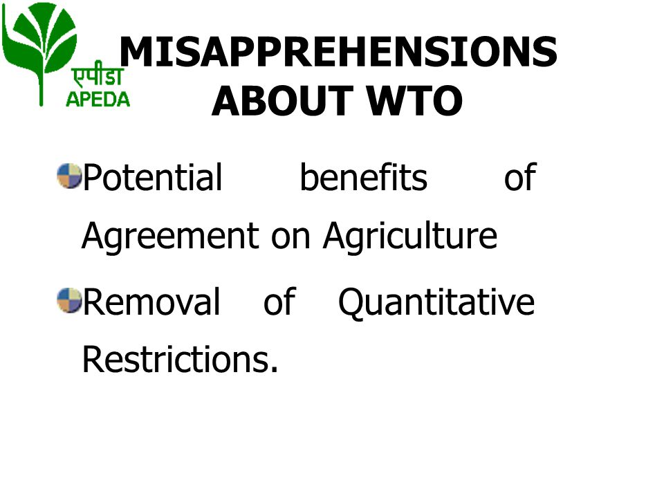 UNDERSTANDING AGREEMENT ON AGRICULTURE (AOA)