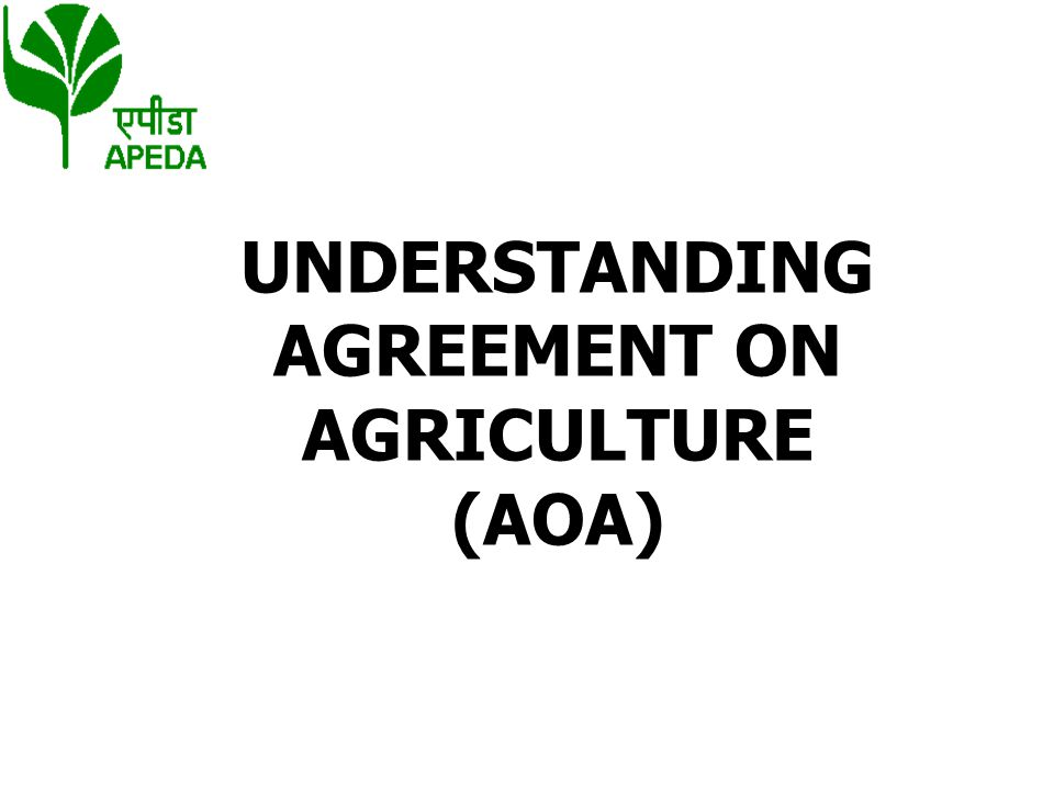 AT DOHA Agriculture Agreed to a comprehensive negotiation for substantial improvement in market access, phasing out of export subsidies and reducing domestic support.