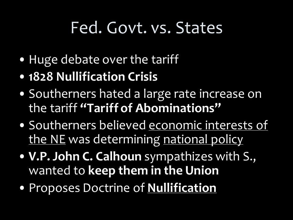 Fed. Govt. vs.