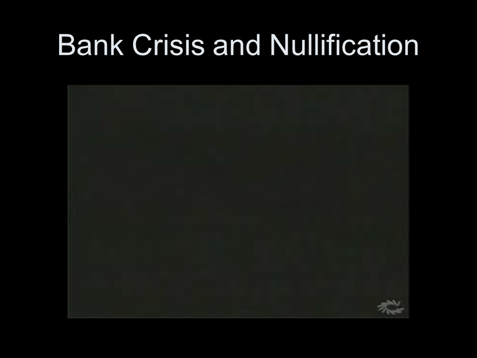 Bank Crisis and Nullification