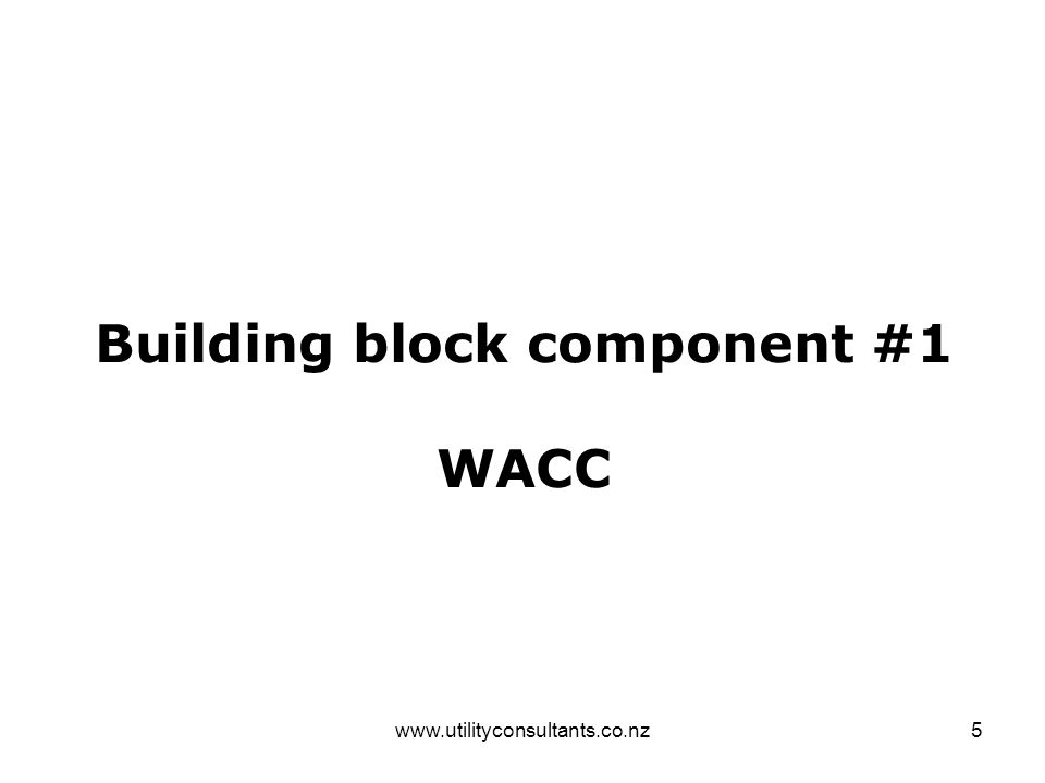 www.utilityconsultants.co.nz16 Building block component #4 OpEx