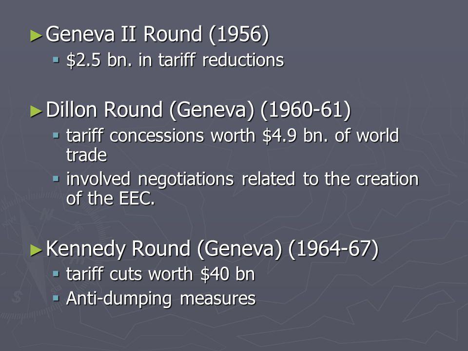 ► Geneva II Round (1956)  $2.5 bn.