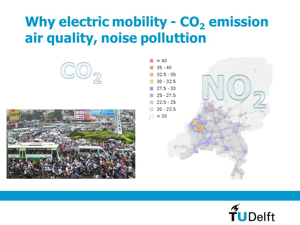 Why electric mobility - CO 2 emission air quality, noise polluttion