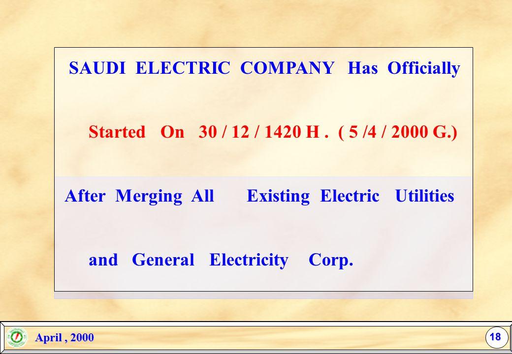April, 2000 April, 2000 Z Regulate Industry Entry (Licensing). Z Secure Electric Supply (Electrification Plan Implementation). Z Ensure Reasonable Pri