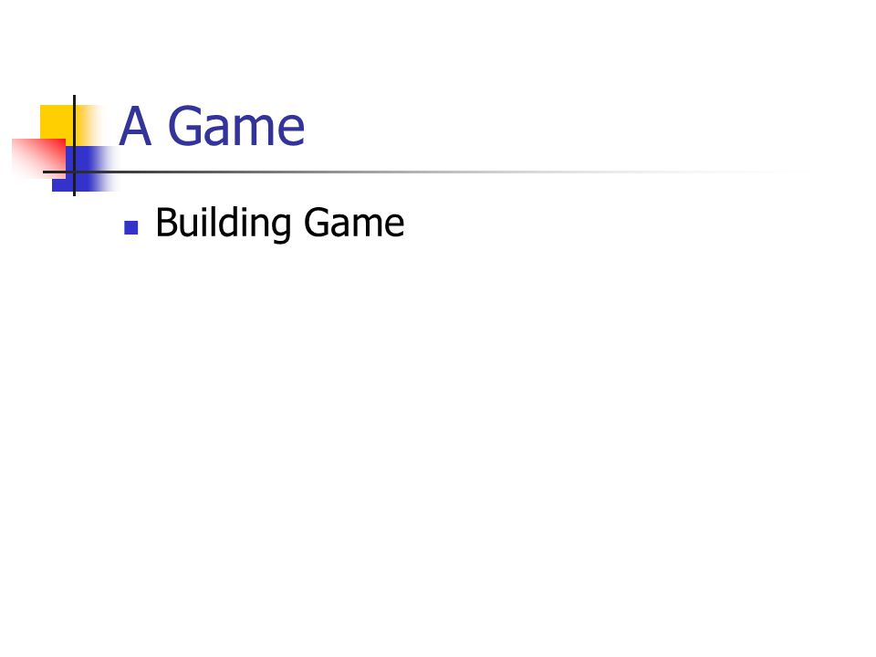 A Game Building Game