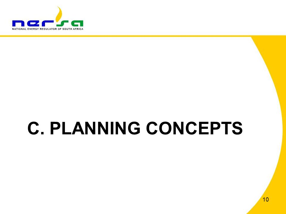 10 C. PLANNING CONCEPTS