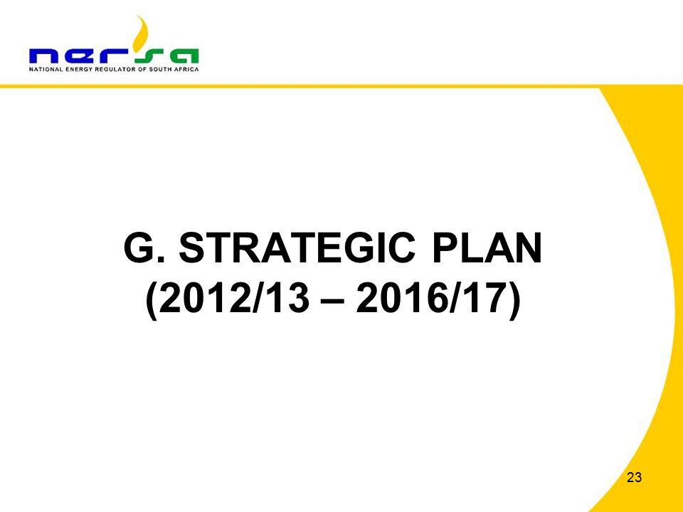 23 G. STRATEGIC PLAN (2012/13 – 2016/17)