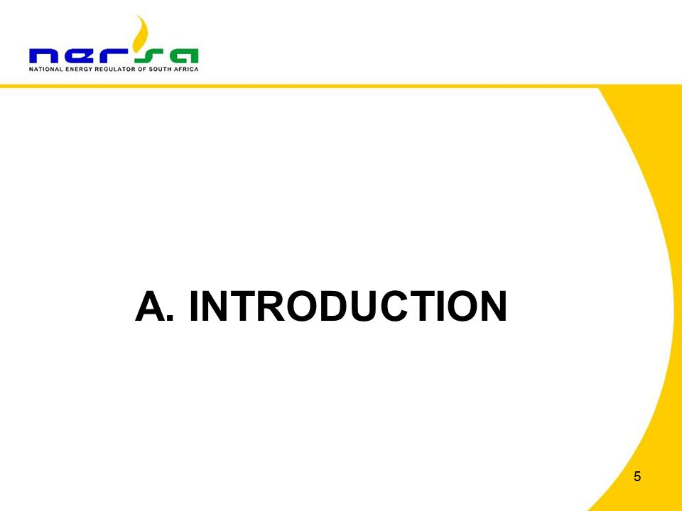 5 A. INTRODUCTION