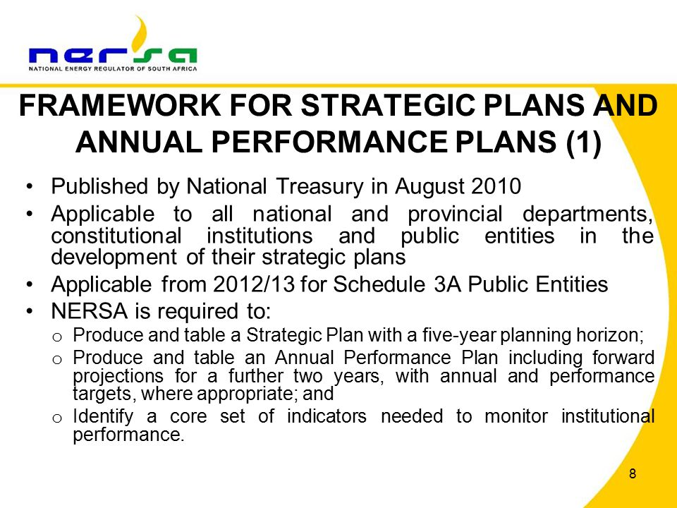 99 Programme 6: Establishing NERSA as an efficient and effective regulator Programme KPITarget for 2013/14 Approved implementation plan for the findings and recommendations in the Report on investigated infrastructure and bottlenecks in the petroleum pipelines infrastructure in Durban Implementation plan for the findings and recommendations in the Report on investigated infrastructure and bottlenecks in the petroleum pipelines infrastructure in Durban Number of reports on the inland supply forecast Biannual Approved RRM for non-financial information (NFI) Volume 7 Finalised RRM for NFI