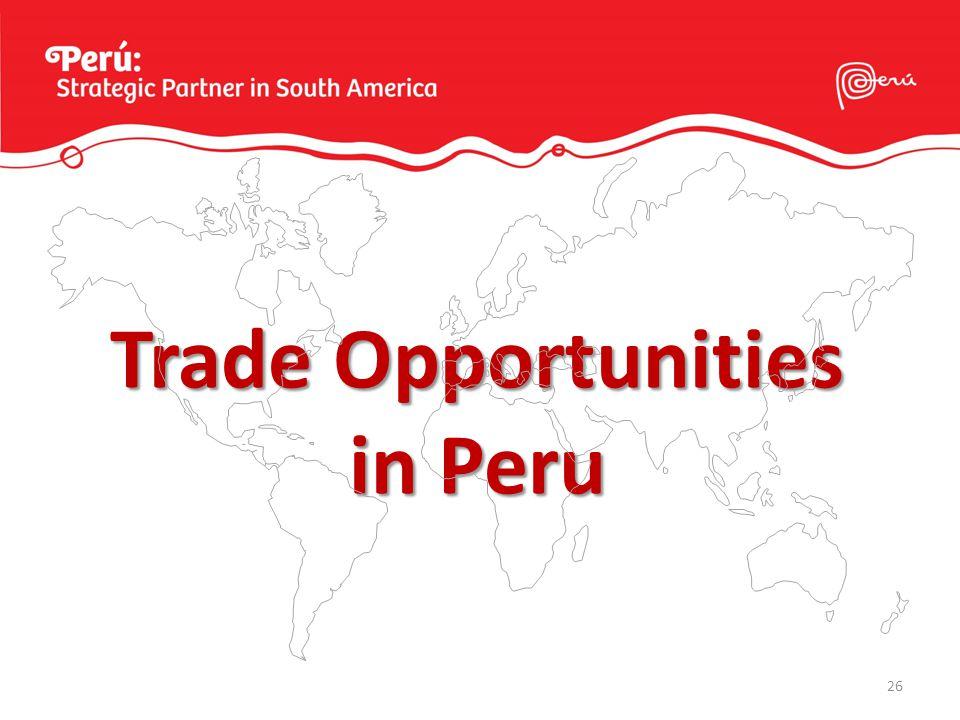 26 Trade Opportunities in Peru