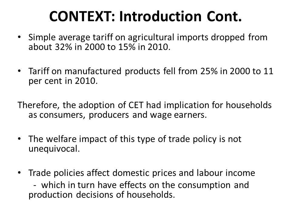 CONTEXT: Introduction Cont.