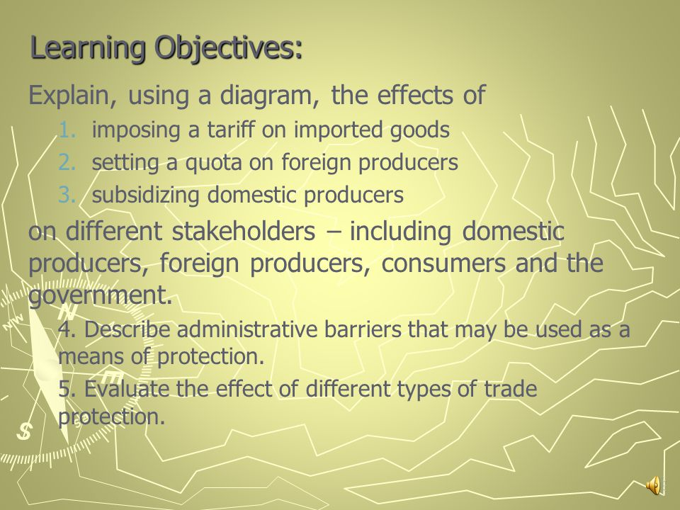 3.1 D Types of PROTECTIONISM Chapter 22 Pages 272-278