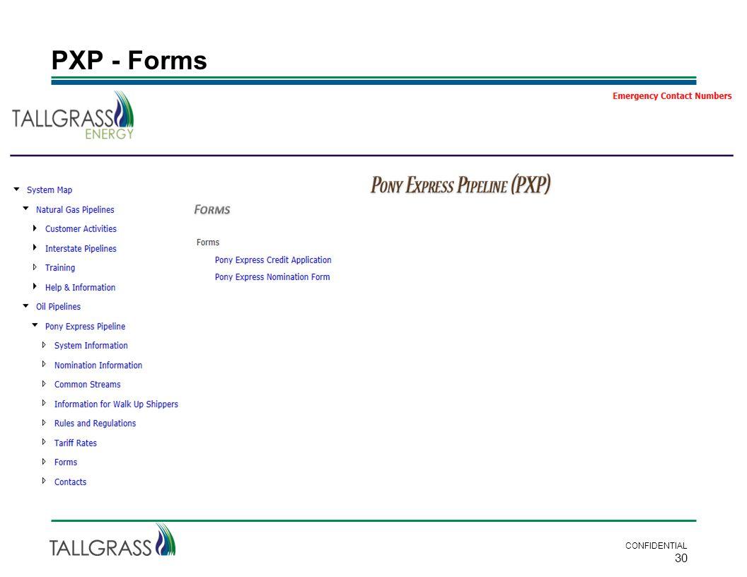 PXP - Forms CONFIDENTIAL 30