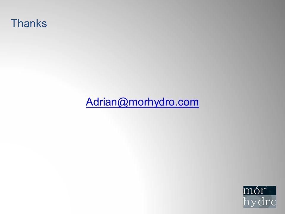 Thanks Adrian@morhydro.com