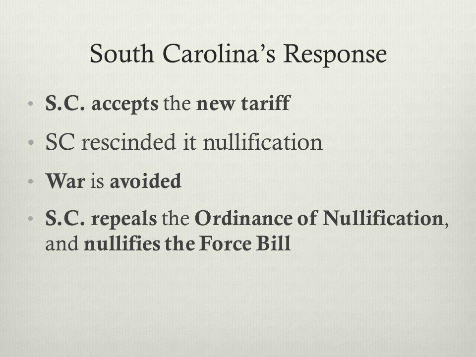 South Carolina's Response S.C.
