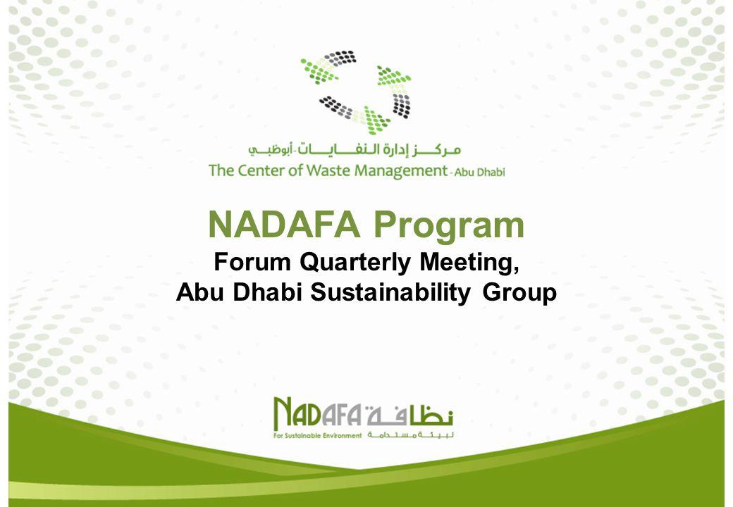 NADAFA Program Forum Quarterly Meeting, Abu Dhabi Sustainability Group