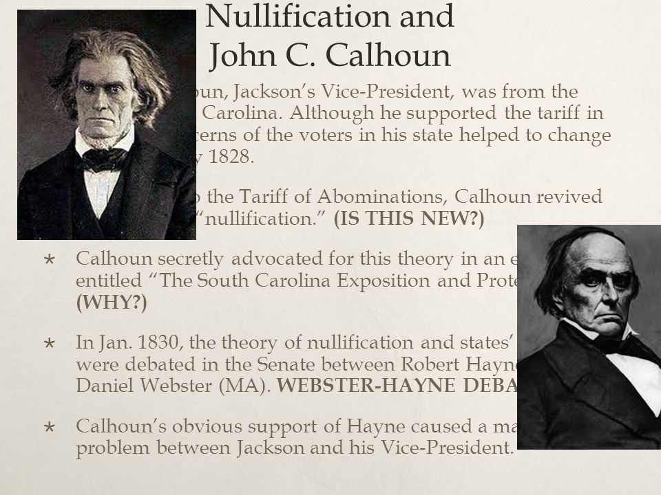 Nullification and John C. Calhoun  John C.