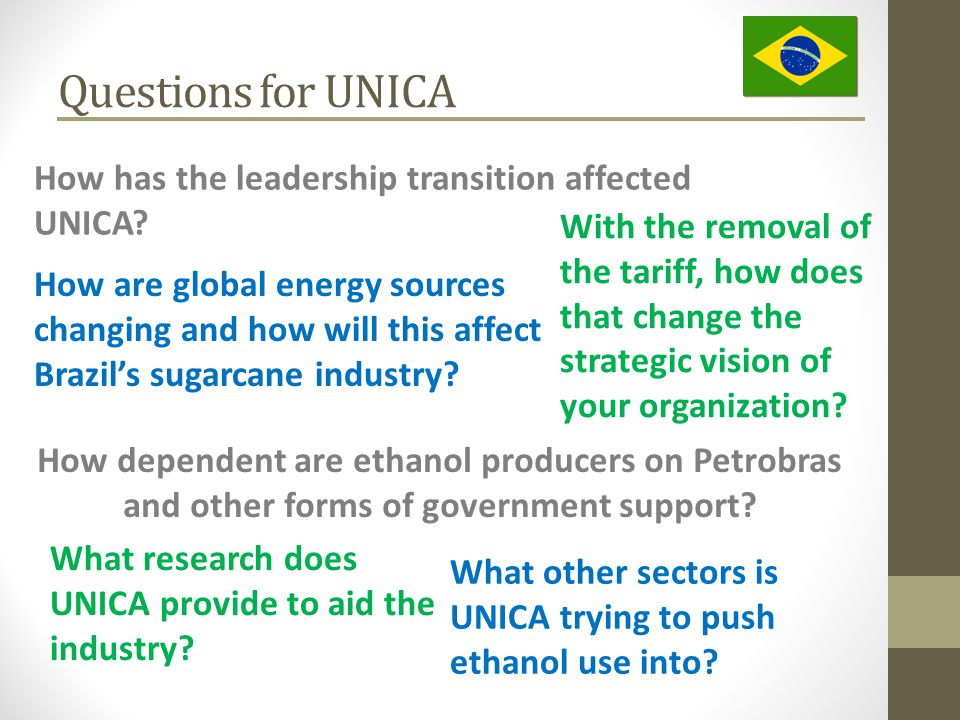 Questions for UNICA How has the leadership transition affected UNICA.