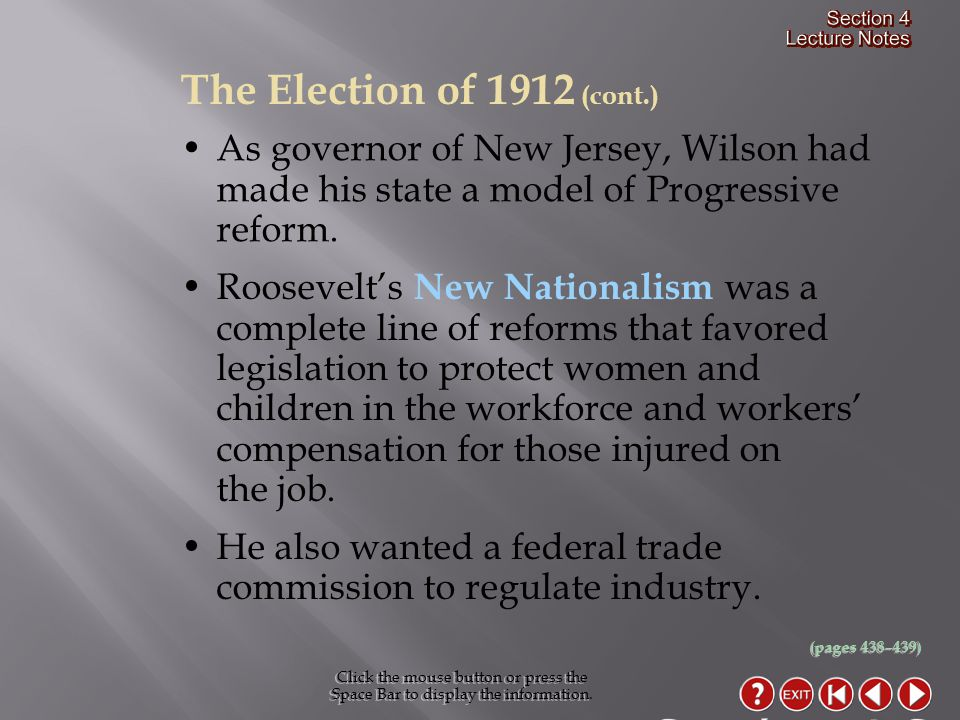 As governor of New Jersey, Wilson had made his state a model of Progressive reform.
