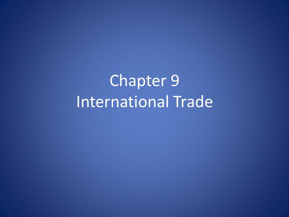 Chapter 9 International Trade